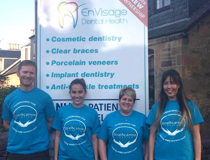 envisage team raising funds for strathcarron